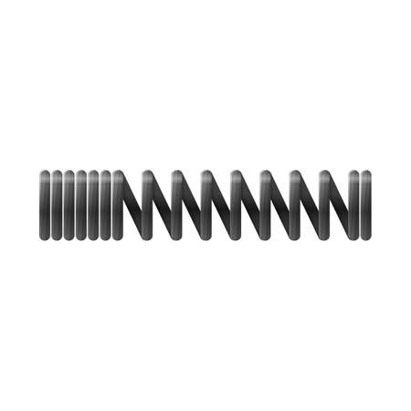 Vector illustration of coil and metal icon. Web element of coil and steel stock symbol for web. Иллюстрация