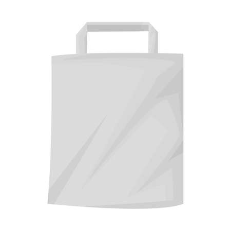 Isolated object of bag and paper icon. Web element of bag and minimarket stock vector illustration.