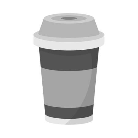 Vector design of coffee and plastic symbol. Graphic of coffee and beverage vector icon for stock.