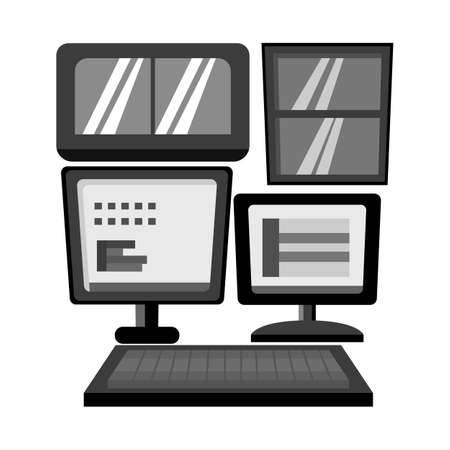 Vector illustration of display and pc logo. Graphic of display and monitor vector icon for stock.