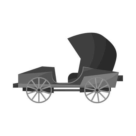 Vector illustration of car and old logo. Web element of car and automobile stock vector illustration. Illustration