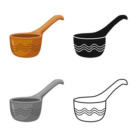Vector design of teapot and pitcher logo. Graphic of teapot and clean vector icon for stock. Иллюстрация