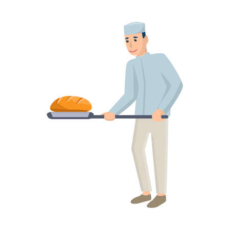 Isolated object of baker and spatula icon. Collection of baker and bread stock vector illustration. 일러스트