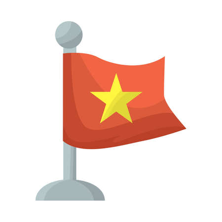 Vector illustration of vietnam flag. Collection of flag stock vector illustration.