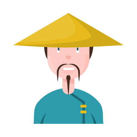 Isolated object of vietnamese and portrait symbol. Set of vietnamese and costume stock vector illustration. 일러스트