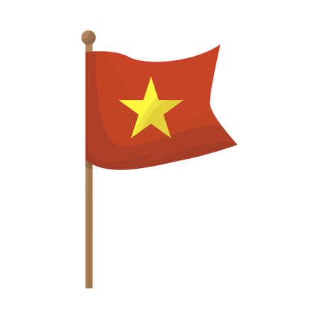 Vector design of vietnam flag icon. Set of flag stock vector illustration. Vettoriali