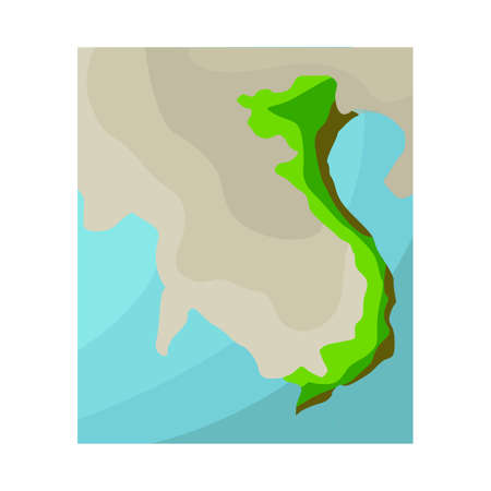 Vector design of map and vietnam icon. Collection of map and land vector icon for stock.