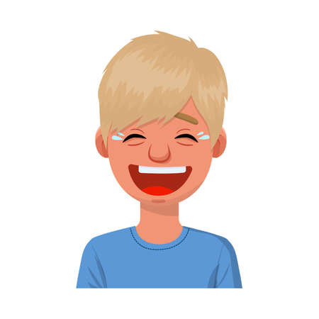 Isolated object of guy and laugh sign. Collection of guy and emotion stock vector illustration. 일러스트