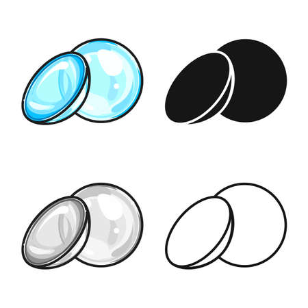 Vector design of contact lens. Web element of  optical stock symbol for web. 일러스트