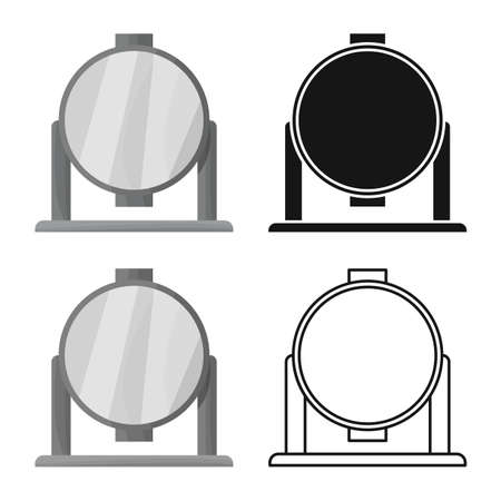 Vector illustration of spotlight and light icon. Web element of spotlight and floodlight stock symbol for web. Çizim