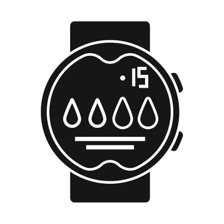 Vector illustration of clock and waterproof sign. Graphic of clock and device stock symbol for web.