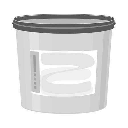 Vector illustration of bucket sign. Web element of bucket and plastic stock vector illustration.