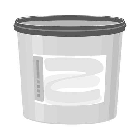 Vector illustration of bucket sign. Web element of bucket and plastic stock vector illustration.
