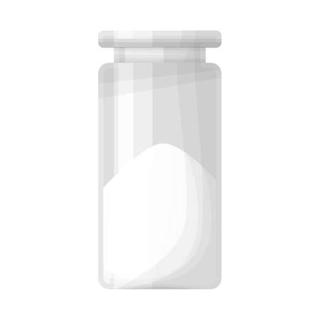Vector illustration of bottle and cocain icon. Web element of bottle and medicine stock vector illustration.