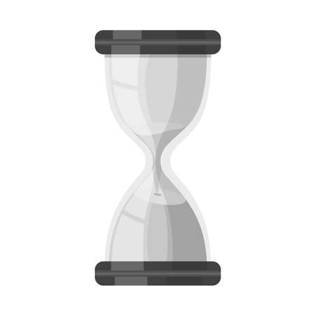 Isolated object of sandglass and timer icon. Graphic of sandglass and minute vector icon for stock. Çizim