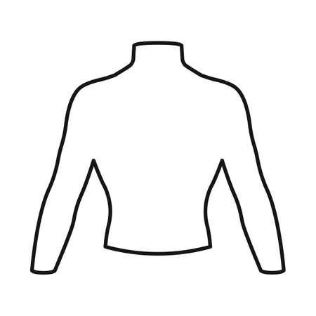 Vector design of dummy and torso symbol. Web element of dummy and male stock symbol for web.