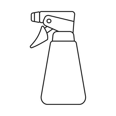 Vector illustration of spray and bottle sign. Web element of spray and water vector icon for stock. Çizim