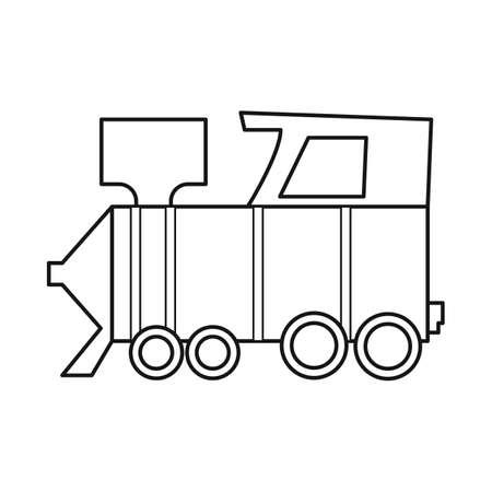 Vector design of train icon. Web element of train and steam stock symbol for web.