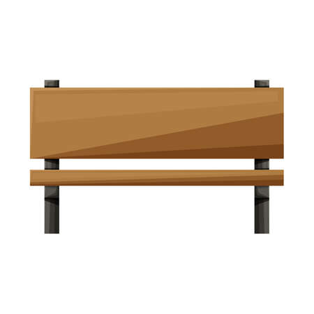 Vector design of bench and seat symbol. Graphic of bench and furniture vector icon for stock. 向量圖像
