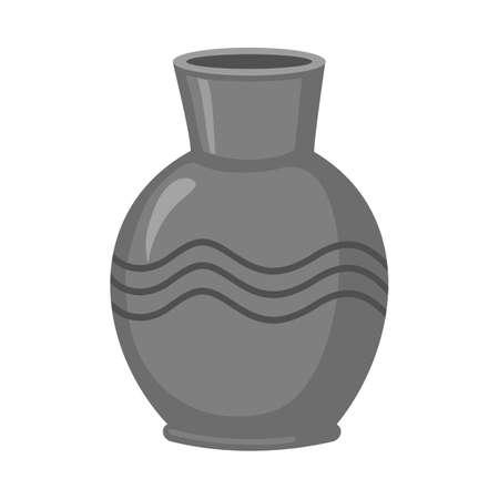 Vector design of vase and clay symbol. Graphic of vase and ceramic stock vector illustration.