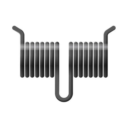 Vector illustration of coil icon. Web element of coil and metal stock vector illustration.