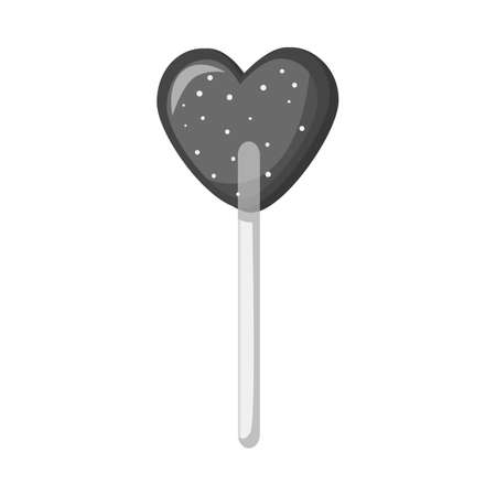 Isolated object of lollipop icon. Graphic of lollipop and sweet vector icon for stock. Çizim
