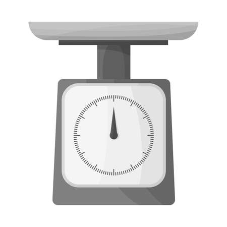Isolated object of scale icon. Graphic of scale and kilogram vector icon for stock. Çizim