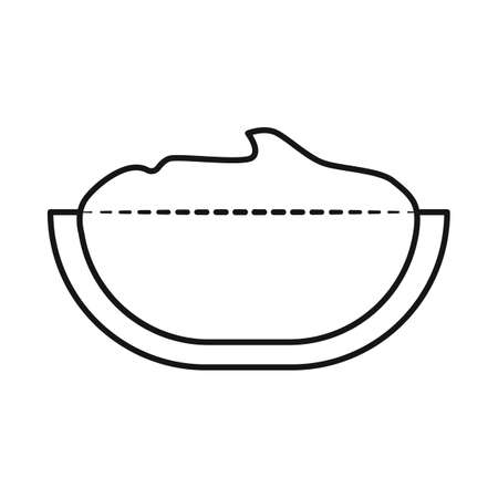 Isolated object bowl of peanut butter sign. Set of bowl and butter stock vector illustration. 스톡 콘텐츠 - 158237328