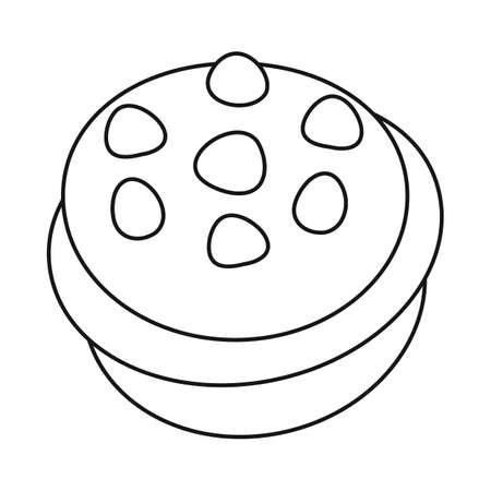 Vector design of birthday cupcake sign. Set of chocolate cupcake stock vector illustration.
