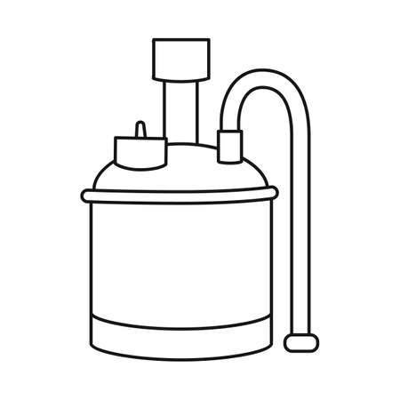 Vector illustration of beer and machine icon. Web element of beer and alembic stock vector illustration.