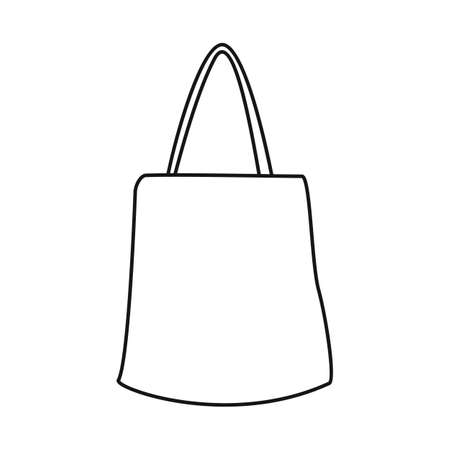Vector illustration of handbag and minimarket. Graphic of handbag and sale vector icon for stock.