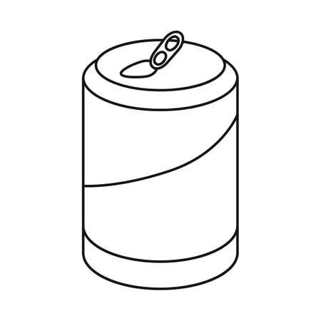 Vector illustration of bottle and soda symbol. Collection of bottle and tipple vector icon for stock.