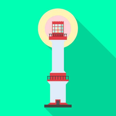 Lighthouse vector icon.Flat vector icon isolated on white background lighthouse. Ilustração