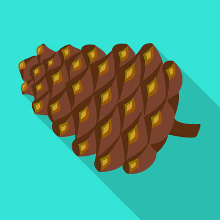 Pineof cone vector icon.Flat vector icon isolated on white background pine of cone.