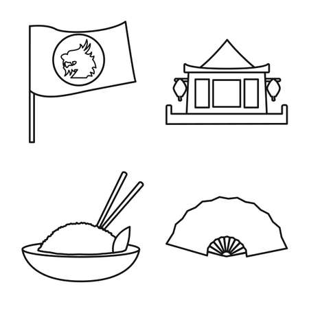 Vector design of travel and country icon. Set of travel and culture stock vector illustration.