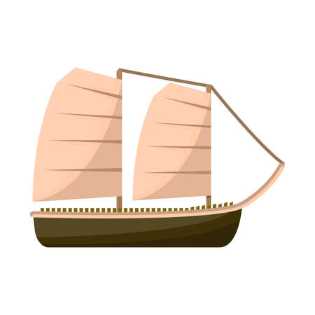 Vector illustration of ship and vietnamese. Set of ship and boat vector icon for stock.