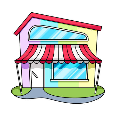 Isolated object of bookstore and shop. Set of bookstore and mini vector icon for stock. Ilustração