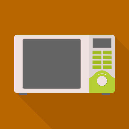 Isolated object of microwave and oven. Graphic of microwave and stove stock vector illustration.