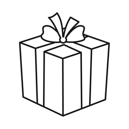 Vector illustration of gift and box symbol. Web element of gift and surprise stock symbol for web. Ilustração