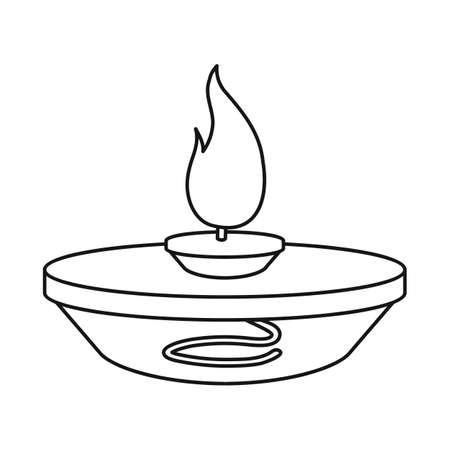 Isolated object of burner and lab. Web element of burner and experiment stock symbol for web.