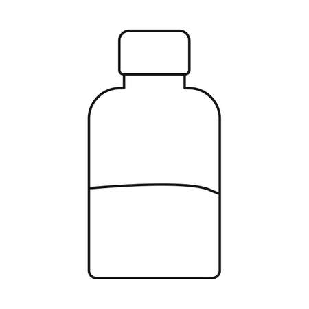 Vector illustration of bottle and aloe. Web element of bottle and gel stock vector illustration.