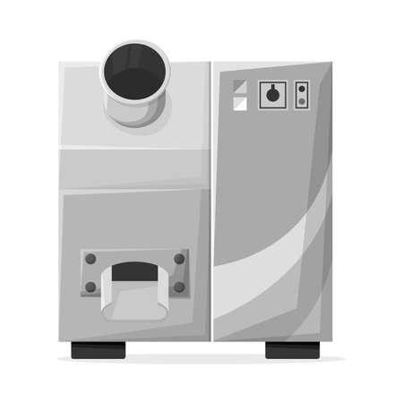 Vector design of juicer and machine. Web element of juicer and technology stock symbol for web. Ilustração