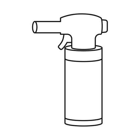 Vector illustration of cigarette and electronic. Web element of cigarette and vape stock vector illustration. Ilustração