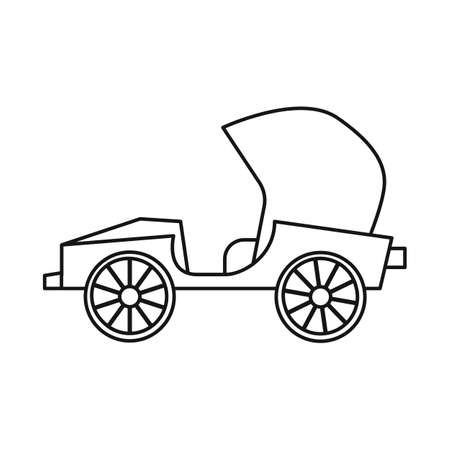 Vector design of car and old symbol. Graphic of car and automobile vector icon for stock. Ilustração