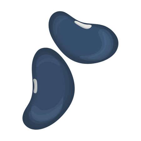 Beans vector cartoon icon. Vector illustration bean on white background. Isolated cartoon illustration icon of beans.