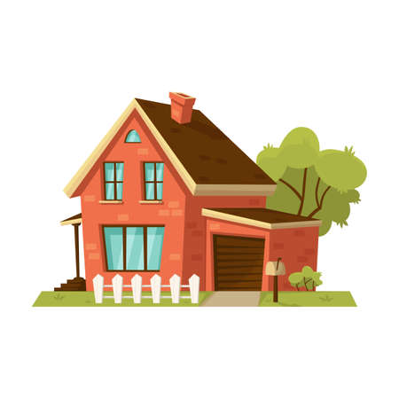 House vector cartoon icon. Vector illustration house on white background. Isolated cartoon illustration icon of apartment.