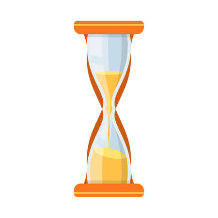 Web element of sandglass and countdown stock vector illustration.