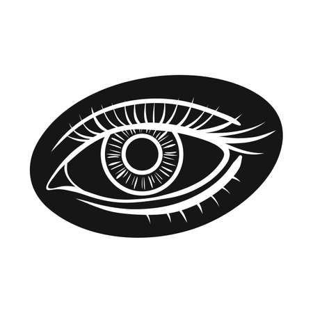 Vector design of eye and eyesight symbol. Graphic of eye and diagnostic stock symbol for web.