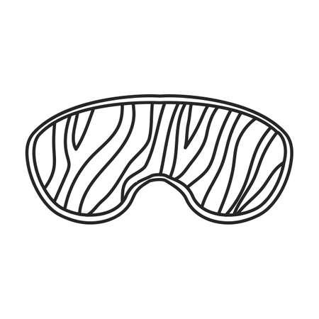 Sleep mask vector outline icon. Vector illustration mask for eye on white background. Isolated outline illustration icon of sleep accessory .