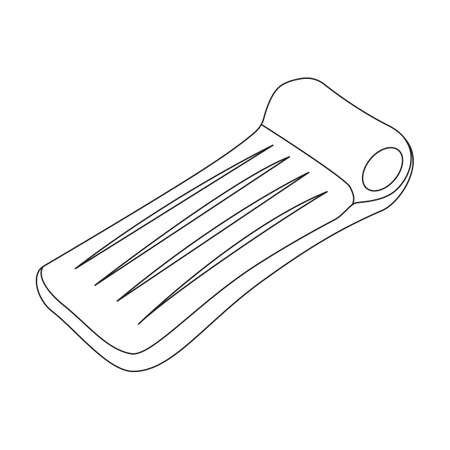 Inflatable mattress vector icon.Outline vector icon isolated on white background inflatable mattress.